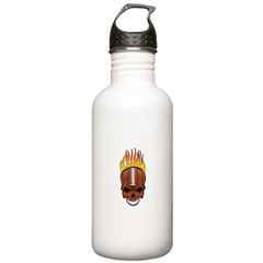 Skull Football Water Bottle
