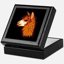 Alpaca (on black) Keepsake Box