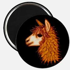 Alpaca (on black) Magnet
