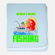 WISH I WAS FISHING baby blanket