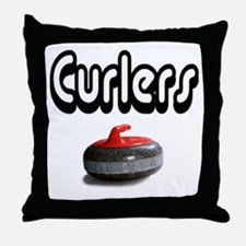 Curlers Rock Throw Pillow