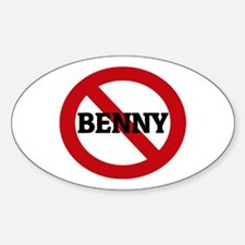 Anti-Benny Oval Decal