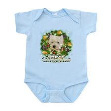 Merry Christmas Westie Infant Bodysuit