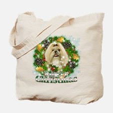 Merry Christmas Shih Tzu Tote Bag