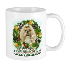 Merry Christmas Shih Tzu Small Mug