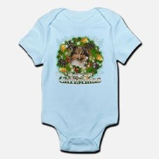 Merry Christmas Sheltie Infant Bodysuit