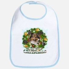 Merry Christmas Sheltie Bib