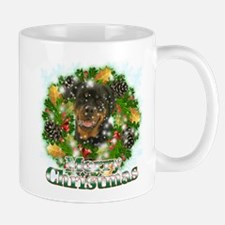 Merry Christmas Rottweiler Mug