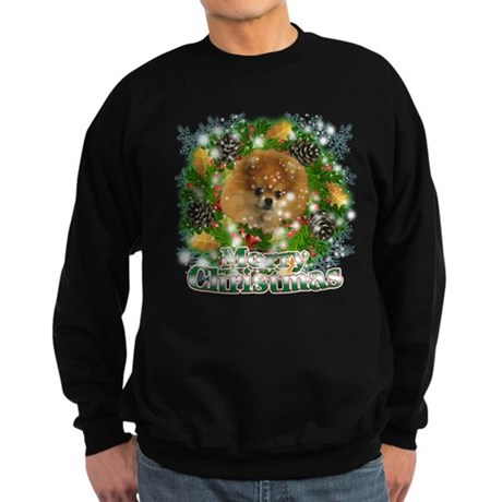 Merry Christmas Pomeranian Sweatshirt (dark)