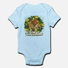 Merry Christmas Pomeranian Infant Bodysuit
