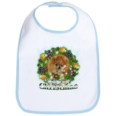 Merry Christmas Pomeranian Bib