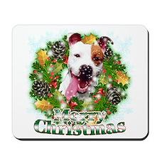 Merry Christmas Pitbull Mousepad