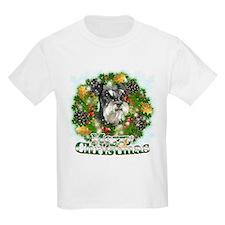 Merry Christmas Miniature Schnauzer T-Shirt