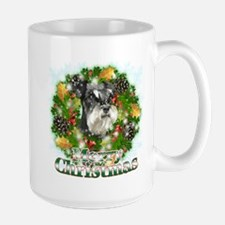 Merry Christmas Miniature Schnauzer Mug