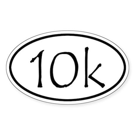 10k Run Oval Sticker
