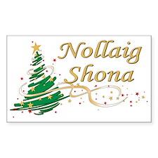 Irish Christmas Rectangle Decal