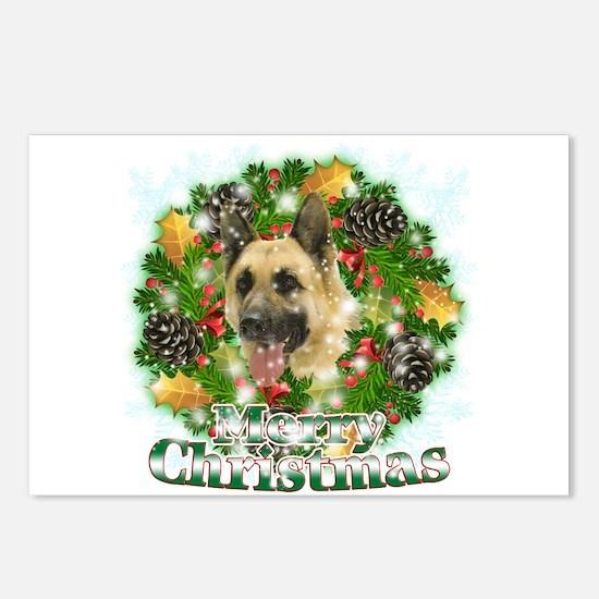 Merry Christmas German Shepherd Postcards (Package