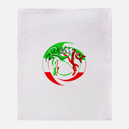 Unique Italian stallion Throw Blanket
