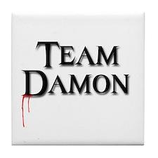 Cute Team damon Tile Coaster