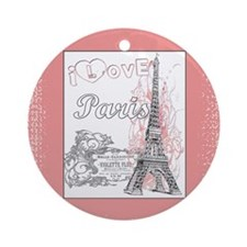I Love Paris Ornament (Round)