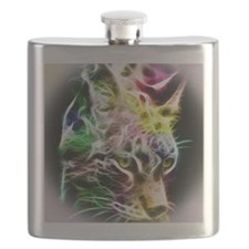 Foals on Wood Grain Thermos Bottle (12 o