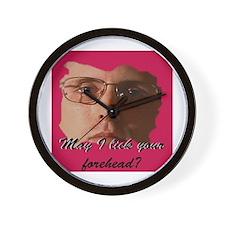 Forehead Lick Wall Clock