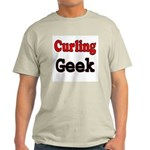 Curling Geek Ash Grey T-Shirt