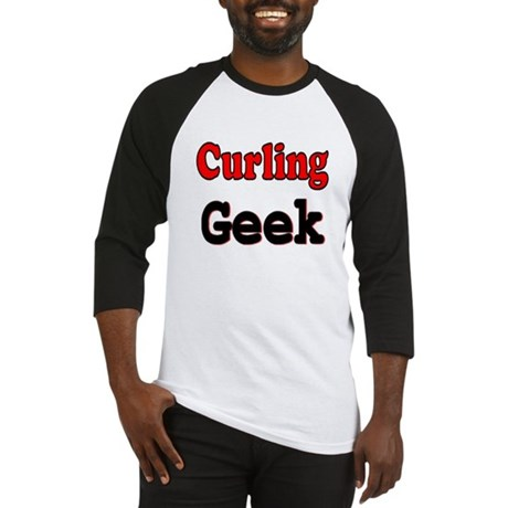 Curling Geek Baseball Jersey