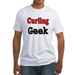 Curling Geek Fitted T-Shirt