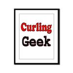 Curling Geek Framed Panel Print