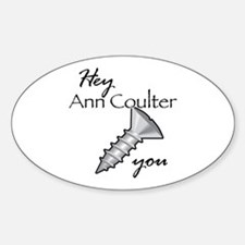 Cute Ann coulter Sticker (Oval)