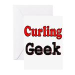 Curling Geek Greeting Cards (Pk of 10)