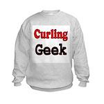 Curling Geek Kids Sweatshirt