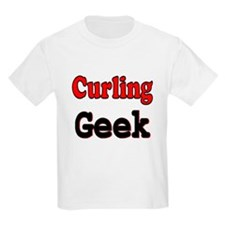 Curling Geek Kids T-Shirt