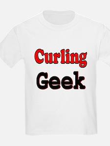 Curling Geek Kids T-Shirt