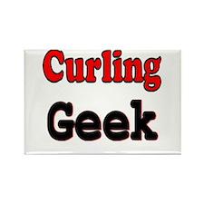 Curling Geek Rectangle Magnet
