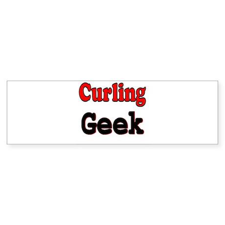 Curling Geek Bumper Sticker