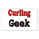 Curling Geek Rectangle Sticker
