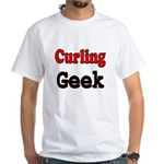 Curling Geek White T-Shirt