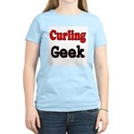 Curling Geek Women's Pink T-Shirt