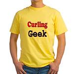 Curling Geek Yellow T-Shirt