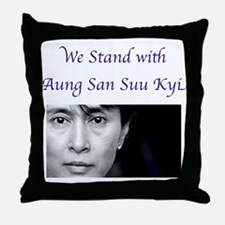Unique Myanmar Throw Pillow