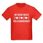 My Heart Beats For A Cardiologist Kids Dark T-Shir