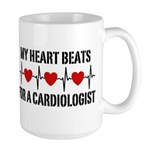 My Heart Beats For A Cardiologist Large Mug