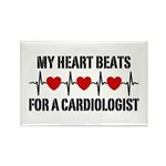 My Heart Beats For A Cardiologist Rectangle Magnet