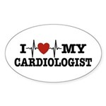 I Love My Cardiologist Sticker (Oval)