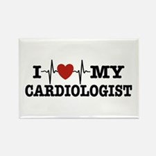 I Love My Cardiologist Rectangle Magnet