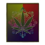 Marijuana blanket Fleece Blankets