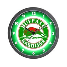 Buffalo Gasoline Wall Clock