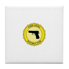 Firearms Instructor Tile Coaster